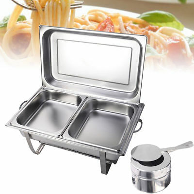 9L Stainless Steel Chafing Dish Buffet Stoves Caterers Xmas Party Food Warmer