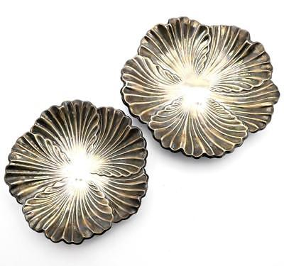 Vintage Set of 2 Spanish Pedro Duran Morales? 915 Sterling Silver Footed Dishes