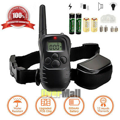 Waterproof Shock Vibra Training Collar for Small Med Large Dog Remote 1000 Yard