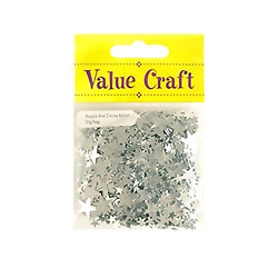Value Craft  Silver Star Shape Sequins