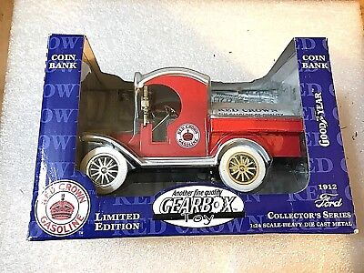 1912 Red Crown Gasoline Ford Tanker L.e. Heavy Die Cast Metal 1:24 Bank
