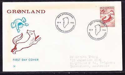 Greenland 1966 Legends First Day Cover to  Australia