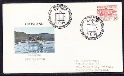 Greenland 1972 Mail Transport  Women's Canoe First Day Cover to  Australia
