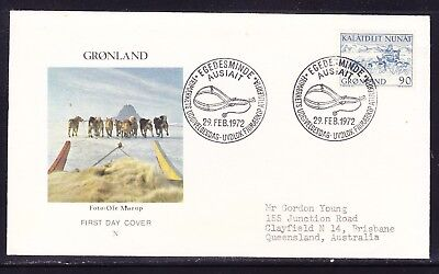 Greenland 1972 Mail Transport Dog Sledge First Day Cover to  Australia