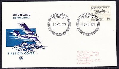 Greenland 1976 Mail Transport - Airmail Plane First Day Cover Addressed