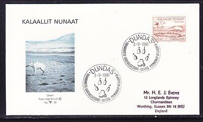 Greenland 1981 Peary Land Expeditions First Day Cover to England