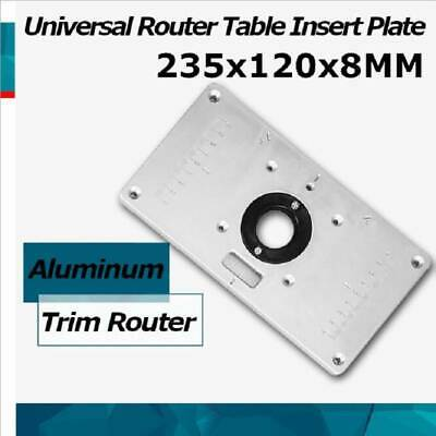 Universal Aluminum Router Table Insert Plate Ring For Woodworking Bench Trimmer