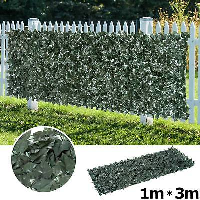3m Artificial Ivy Leaf Hedge Roll Privacy Fence Screen Green Hedging Wall Cover