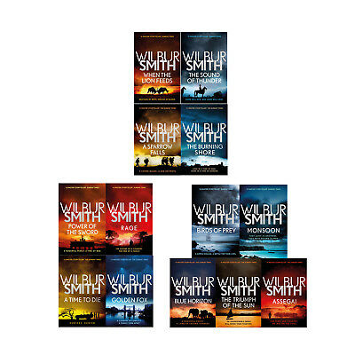 Wilbur Smith The Courtney Series 1-13 books collection set pack NEW