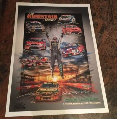 2018  BATHURST Winners Craig Lowndes  & Steven Richards 7 Time Champion Print