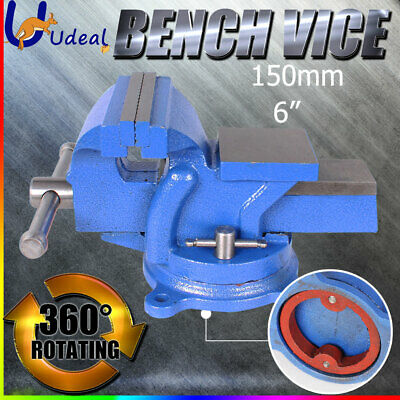 "6"" 150mm Engineers Bench Vice Precision Level 360º Anvil Swivel Base Heavy Duty"