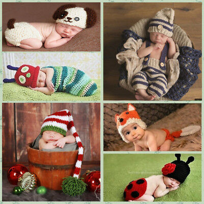 Costume Photography Prop Outfit Baby Girl Boy Knit Clothes Newborn Photo Crochet