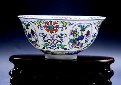 EXQUISITE CHINESE PORCELAIN HANDMADE FLOWERS Beautiful BOWL