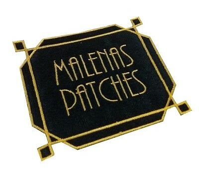 1 x Art Deco Style Personalised Name Sew 'n' Iron on Patch Motif