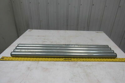 """Dematic 1.9"""" OD x 36-5/8"""" BF Gravity Conveyor Roller 7/16"""" Hex Bore Lot Of 4"""