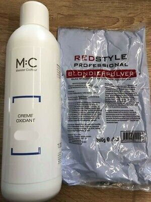 MC Meister Coiffeur M:C Entwickler 9% 1000ml+ Blondierung/Blondierpulver 500 g