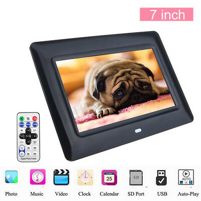 7'' TFT 1080P LCD Digital Photo Picture Frame Movie Auto Player Remote Control