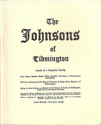 The Johnson's of Tidmington by P Drinkwater 1st edt 1978, SIGNED by author