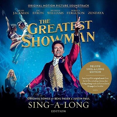 The GREATEST SHOWMAN - Soundtrack CD x 2 Deluxe SING-A-LONG-Edition + 32 Pg Book