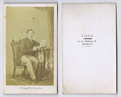 CDV Photograph Edward VII C1862 Carte De Visite By Deron Of Brussels