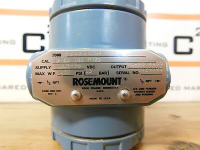 Rosemount 2088G2A22A1B4 Gage Pressure Transmitter Used CSQ