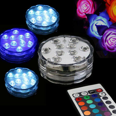 10LED RGB Submersible Swimming Pool Hot Tub SPA Led Lamp IR Remote Pond Lights