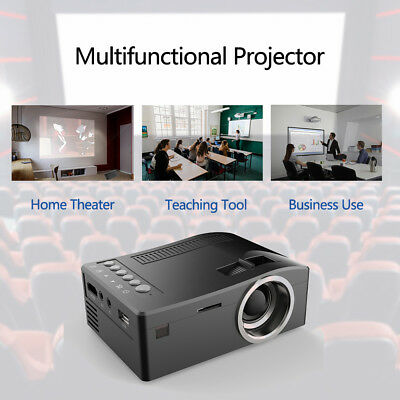 U20 Mini Projector 1920*1080 LCD LED Portable HD TF For Home Theater Cinema Q7Z6