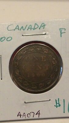 1900 Canada Large Cent Coin Fine #AA074
