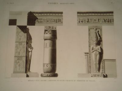 LE PERE DESCRIPTION EGYPT Thebes Medynet-A…ORIGINAL ETCHING FIRST EDITION 1809
