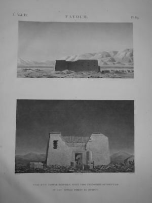 JOMARD DESCRIPTION OF EGYPT Egyptian Temple ORIGINAL ETCHING FIRST EDITION 1809
