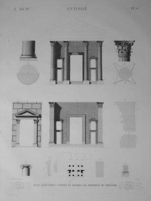 DESCRIPTION OF EGYPT Theater architecture ORIGINAL ETCHING FIRST EDITION 1809