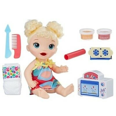NEW Baby Alive Snackin' Treats Baby Doll - Blonde Curly Hair