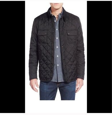 Barbour Tinsford Quilted Mens Black Jacket S $179