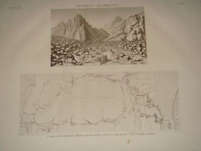 RAFFENEAU DELILE DESCRIPTION EGYPT Desert…ORIGINAL ETCHING FIRST EDITION 1809