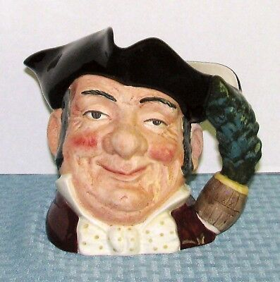 """1957 Royal Doulton England 7"""" Large Character Toby Jug Mine Host D 6468 - EXCELL"""