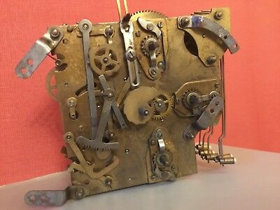 Three Train Mechanical Clock Movement Spares Or Repair.