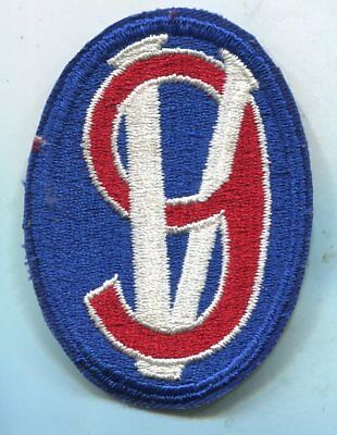 WWII ORIGINAL 95TH INFANTRY DIVISION PATCH Cut Edge EUROPE FRANCE GERMANY