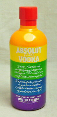 Absolute Vodka Gay Pride Rainbow Flag Bottle Cover Bar Display