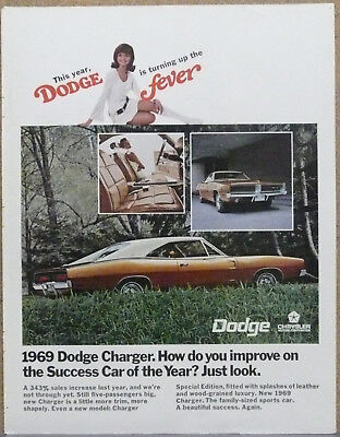 1969 Dodge Charger Ad (Copper) Print Ad