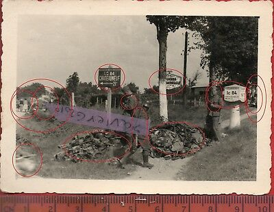 TOP  photo ori al CHATEAUNEUF EXODE CASQUE BEAUME -AUTUN COTE OR FRANCE 1940 ww2