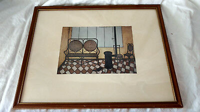 Bernard Buffet 1950 Interior Framed Print Litho Mid Century Abstract MCM VTG