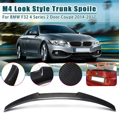 For Bmw 4 Series F32 Coupe M4 Style Rear Trunk Spoiler Wing Carbon Fibre 2014-17