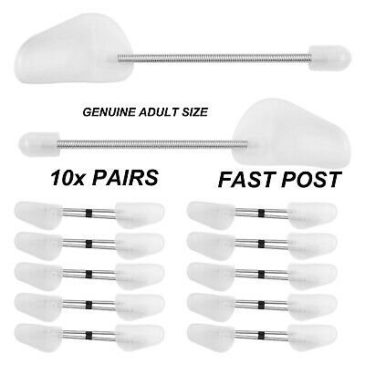 10x PAIRS OF SHOE TREE TREES MAINTAIN SHAPE SHOES FOOTWEAR PLASTIC WHITE UK POST