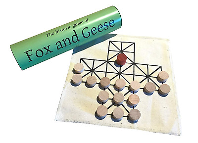 Gothic Green Oak Fox and Geese Historic Board Game