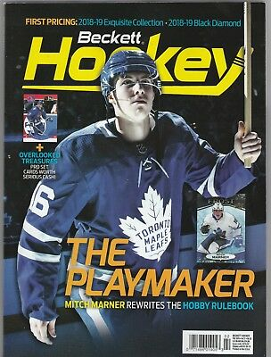 New Current Beckett Hockey Price Guide Magazine, February 2019 (Mitch Marner)