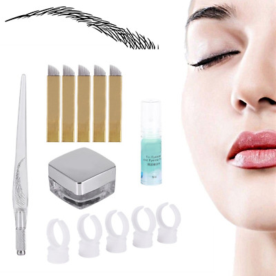 Microblading Eyebrows Tattoo Kit, Tattooing Accessories Needle Pen Pigment...