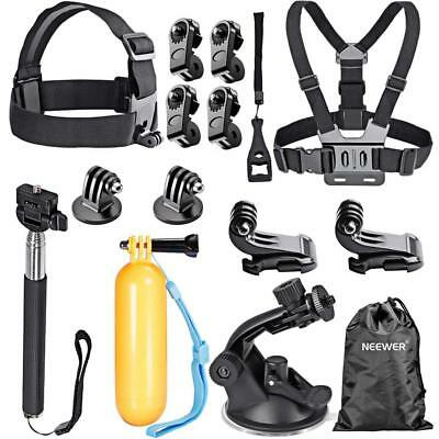 Neewer 16-in-1 Accessory Kit for GoPro Hero 6 5 4 3+ 3 2 1 Session 5 Black...