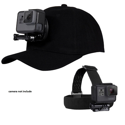 Accessories Kit Camera Head Strap Baseball Hat Cap W/J-Hook Buckle Mount...