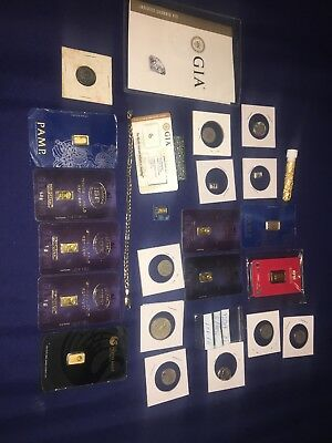 Lot Of Gold Diamonds And Coins