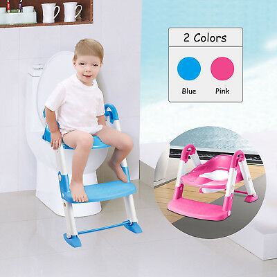 Kids Potty Training Seat with Step Stool Ladder for Child Toddler Toilet Chair U